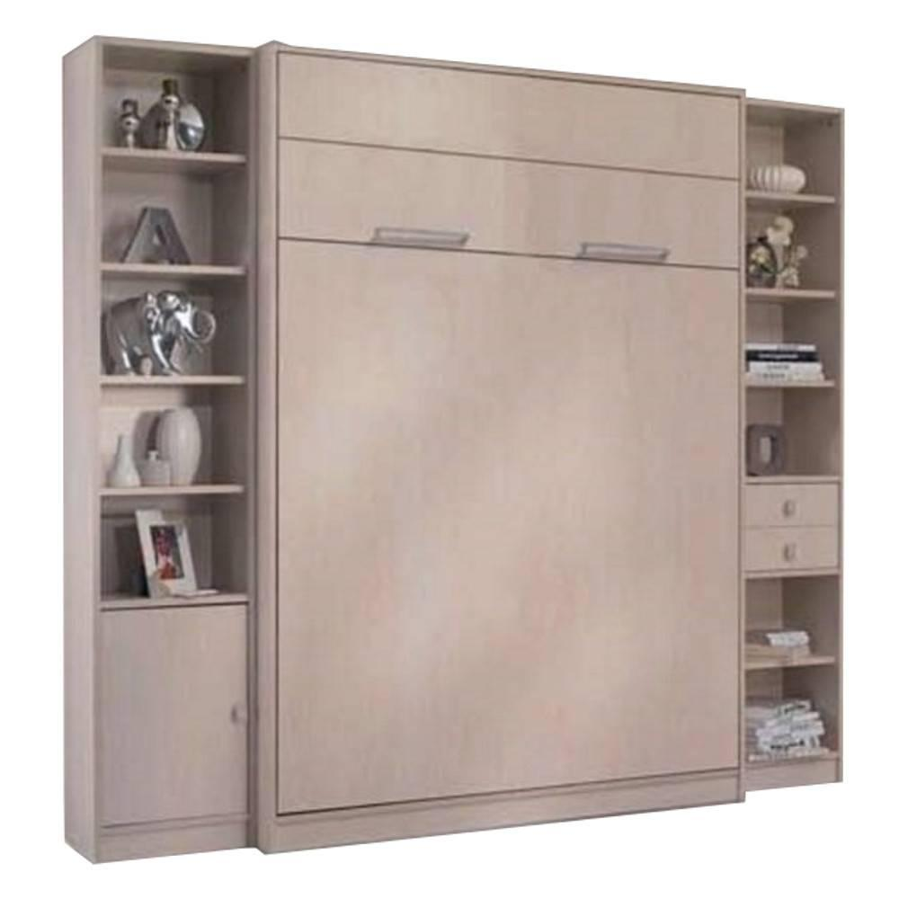 armoire lit escamotable verticale au meilleur prix armoire lit escamotable milan 2 colonnes. Black Bedroom Furniture Sets. Home Design Ideas