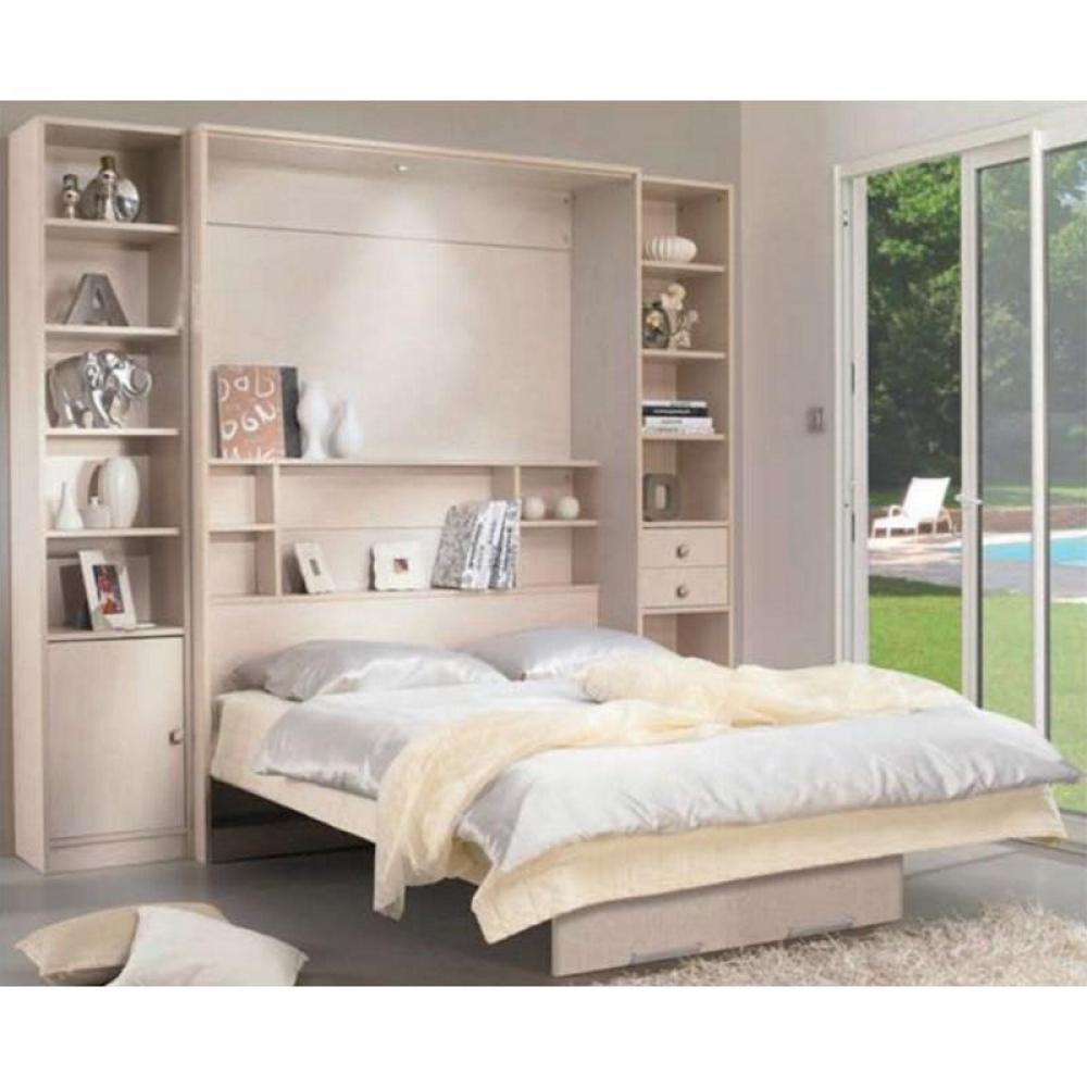 armoire lit escamotable verticale au meilleur prix armoire lit escamotable milan 2 colonnes. Black Bedroom Furniture Sets. Home Design Ideas