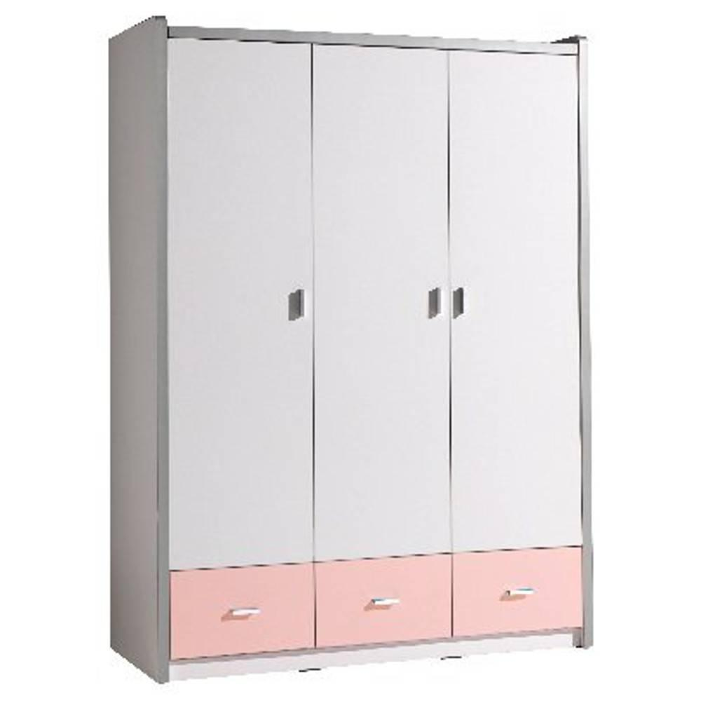 dressings et armoires meubles et rangements armoire dressing kyle 3 portes blanche et 3. Black Bedroom Furniture Sets. Home Design Ideas
