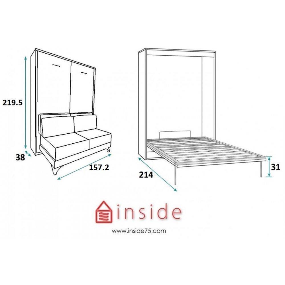 Armoire lit escamotable avec canap int gr au meilleur prix armoire lit escamotable town for Armoire lit canape