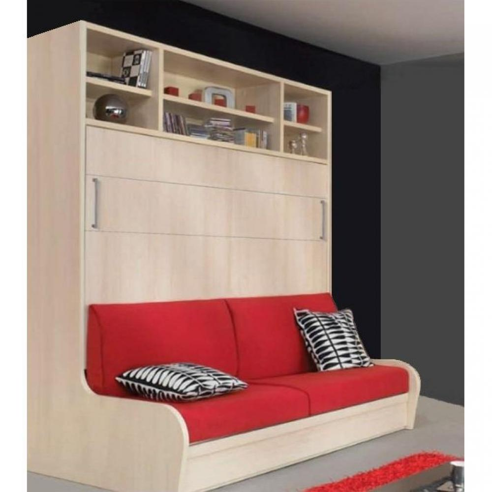 armoire lit escamotable avec canap int gr au meilleur prix armoire lit transversal. Black Bedroom Furniture Sets. Home Design Ideas