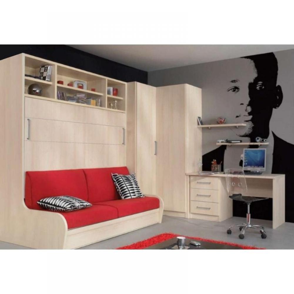 Armoire lit escamotable avec canap int gr au meilleur prix armoire lit tra - Lit avec armoire integree ...