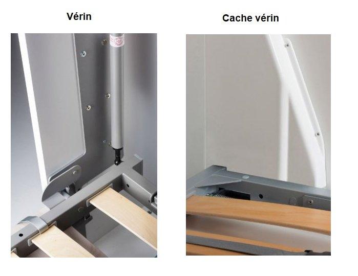Armoire lit à ouverture assistée TRACCIA canapé intégré et méridienne gauche couchage 160*200cm