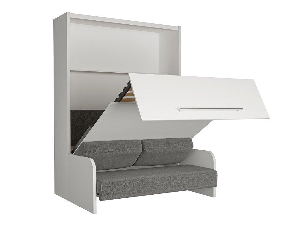 armoire lit escamotable avec canap int gr au meilleur prix space sofa fast armoire lit. Black Bedroom Furniture Sets. Home Design Ideas