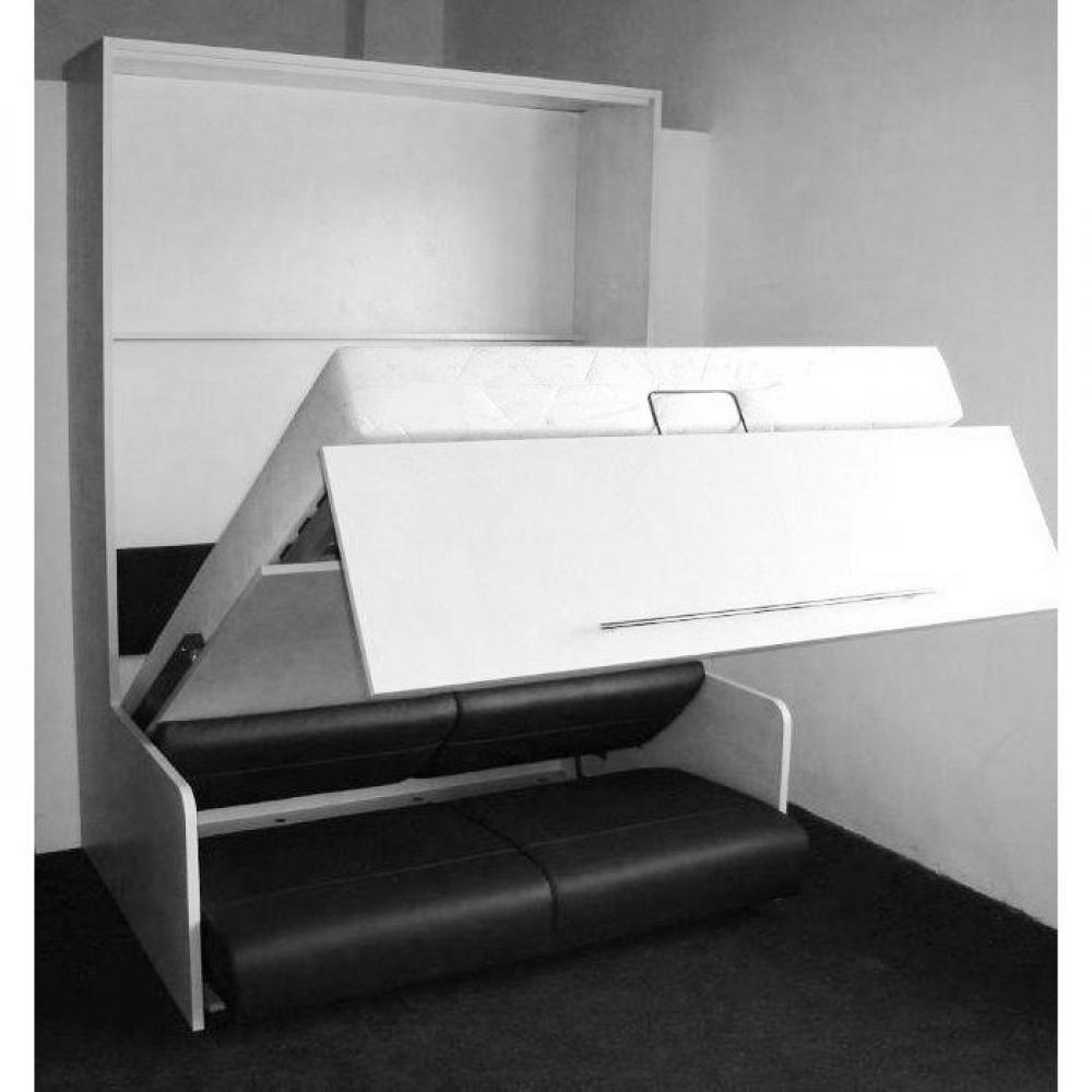 armoire lit escamotable avec canap int gr au meilleur prix armoire lit escamotable space sofa. Black Bedroom Furniture Sets. Home Design Ideas