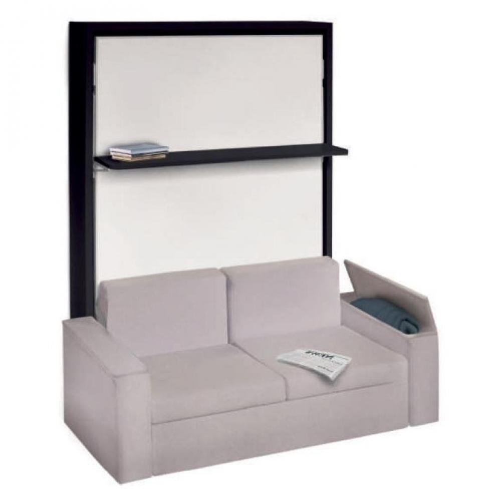 Armoire lit escamotable avec canapé intégré au meilleur ...
