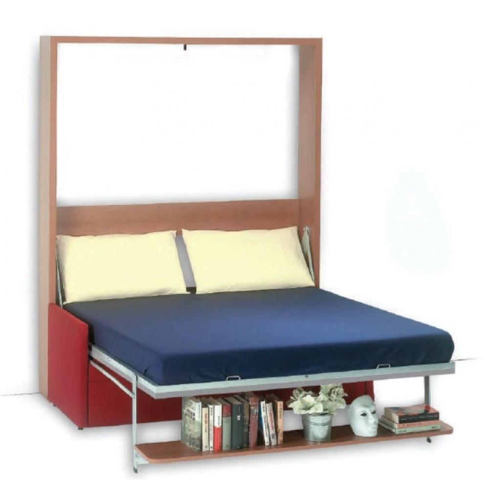 armoire lit escamotable avec canap int gr au meilleur prix armoire lit verticale luxury. Black Bedroom Furniture Sets. Home Design Ideas
