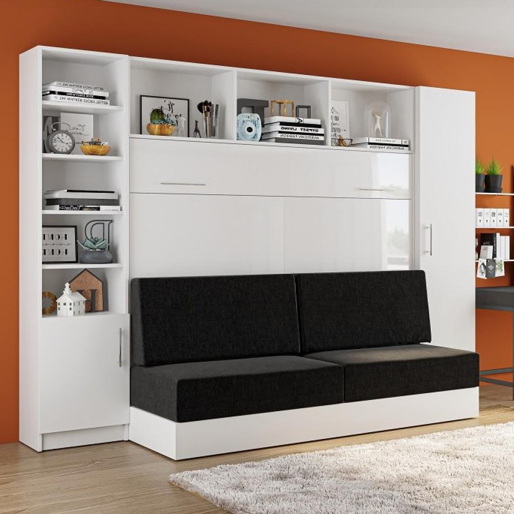 Canapé droit 3 places Blanc Tissu Contemporain Confort
