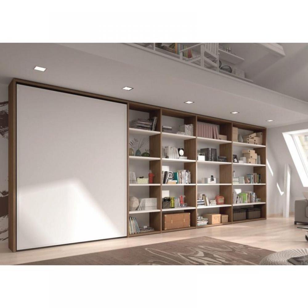 armoire lit escamotables au meilleur prix armoire lit escamotable apollon avec biblioth que. Black Bedroom Furniture Sets. Home Design Ideas