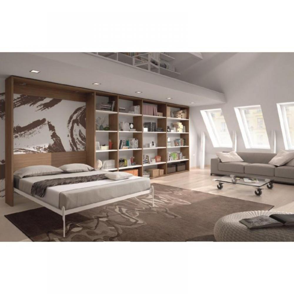 biblioth que avec lit escamotable my blog. Black Bedroom Furniture Sets. Home Design Ideas