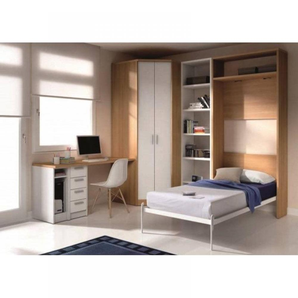 armoire lit escamotables au meilleur prix armoire lit escamotable atlas avec bureau et. Black Bedroom Furniture Sets. Home Design Ideas