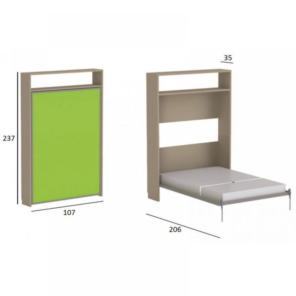 armoire lit simple escamotable 1 personne au meilleur prix armoire lit escamotable atlas avec. Black Bedroom Furniture Sets. Home Design Ideas