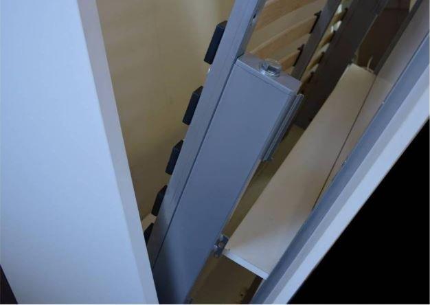 Composition armoire lit escamotable LUTECIA blanc mat couchage 140*190 cm