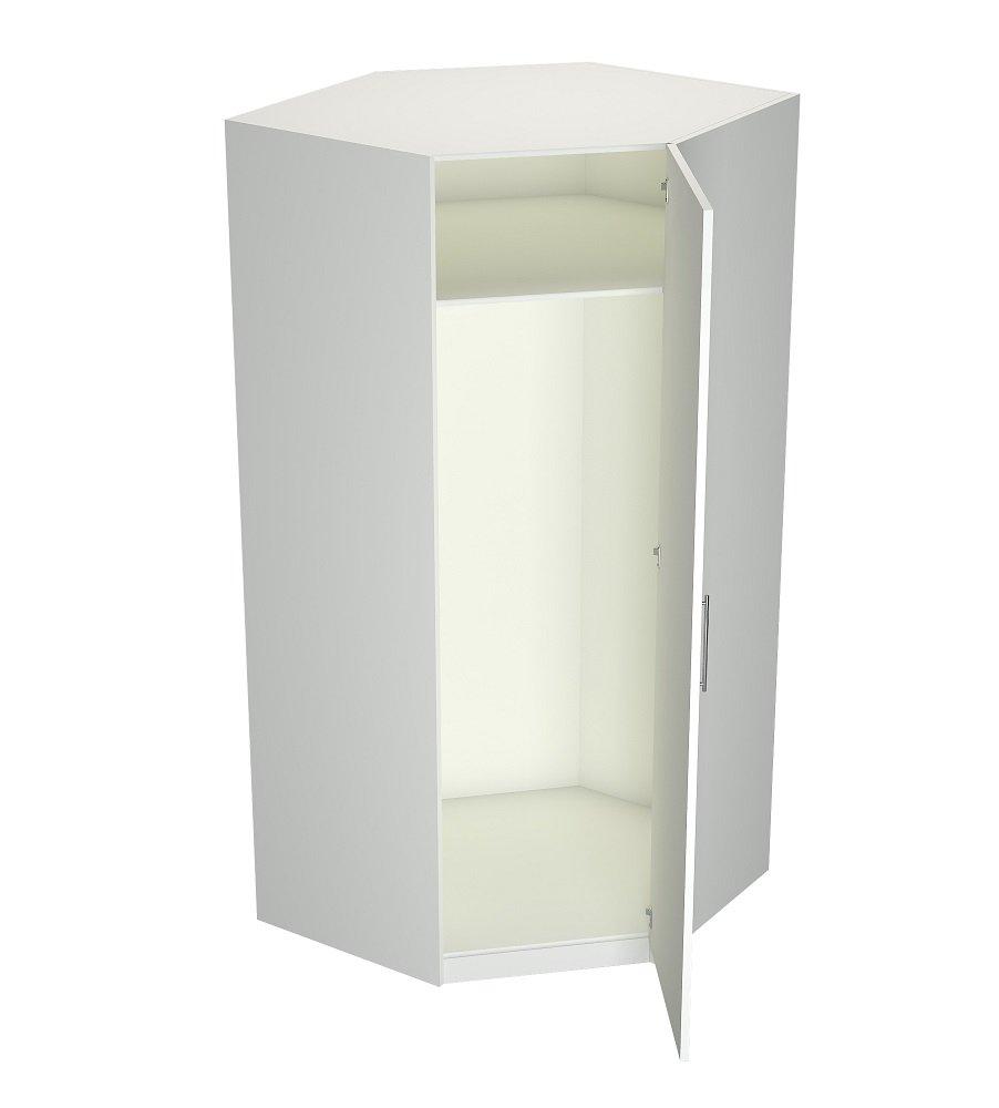 Composition armoire lit escamotable SMART-V2 blanc mat Couchage 140 x 200 cm  2 colonnes rangements + angle