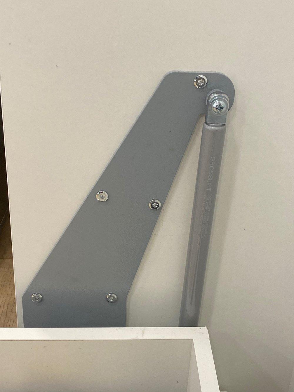 Composition armoire lit escamotable SMART-V2 gris mat Couchage 140 x 200 cm  2 colonnes rangements + angle