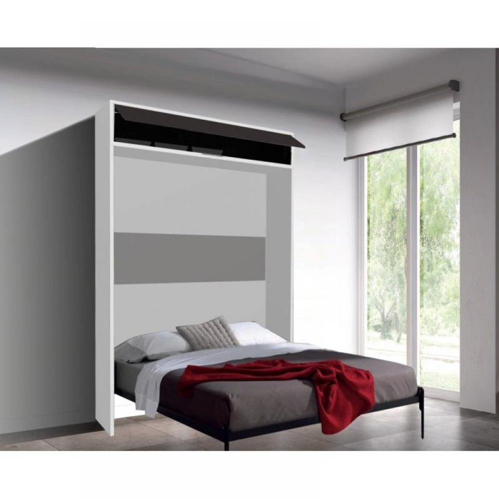 armoire lit escamotable verticale au meilleur prix armoire lit escamotable eros couchage 140. Black Bedroom Furniture Sets. Home Design Ideas