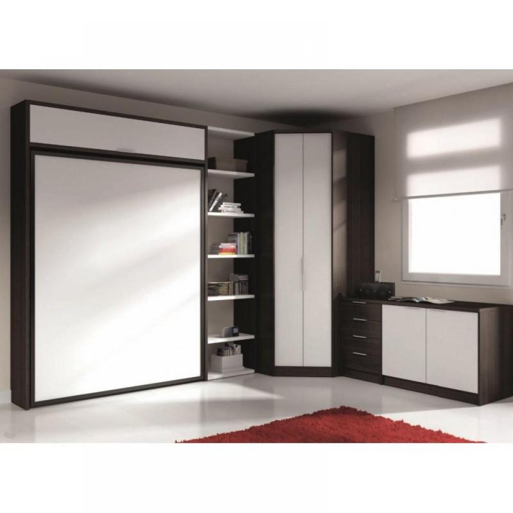 armoire lit escamotable verticale au meilleur prix armoire lit escamotable eros avec rangements. Black Bedroom Furniture Sets. Home Design Ideas