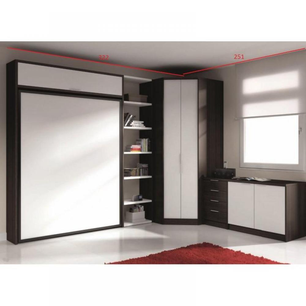 armoire lit escamotable verticale au meilleur prix armoire lit escamotable eros avec rangements. Black Bedroom Furniture Sets. Home Design Ideas