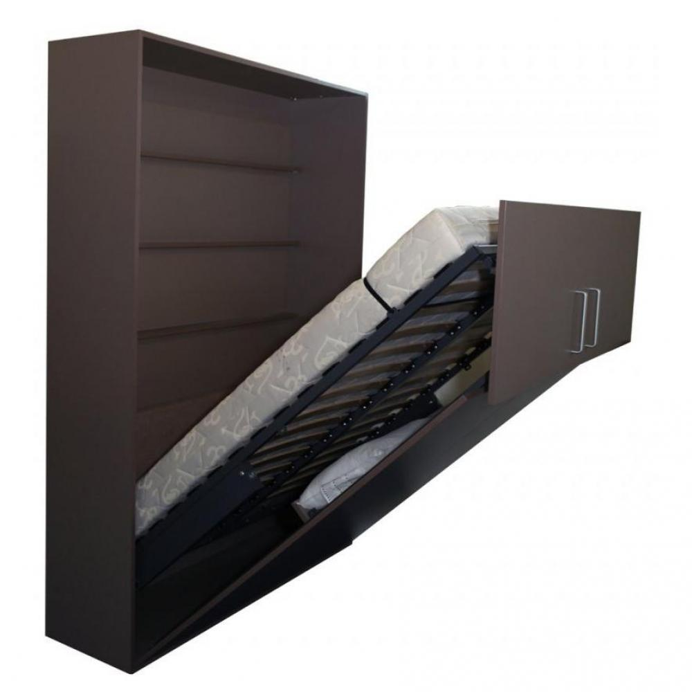 armoire lit escamotable verticale au meilleur prix armoire lit fonction 140 200cm avec range. Black Bedroom Furniture Sets. Home Design Ideas