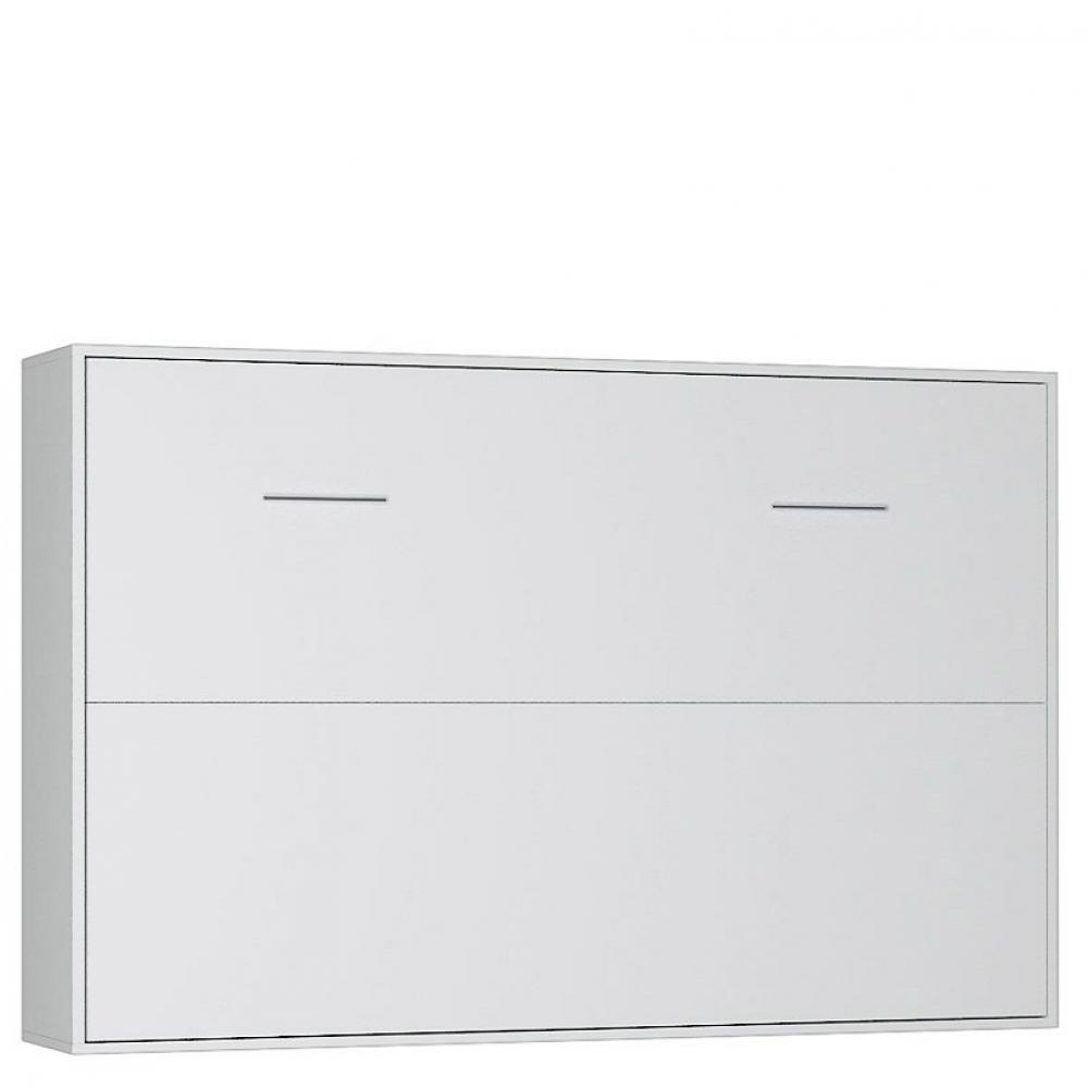 armoire lit horizontale escamotable strada v2 blanc mat. Black Bedroom Furniture Sets. Home Design Ideas