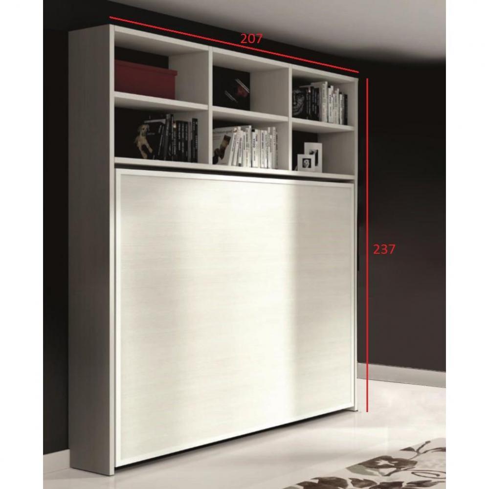 Armoire lit escamotable horizontale transversale au meilleur prix armo - Lit 2 places escamotable ...
