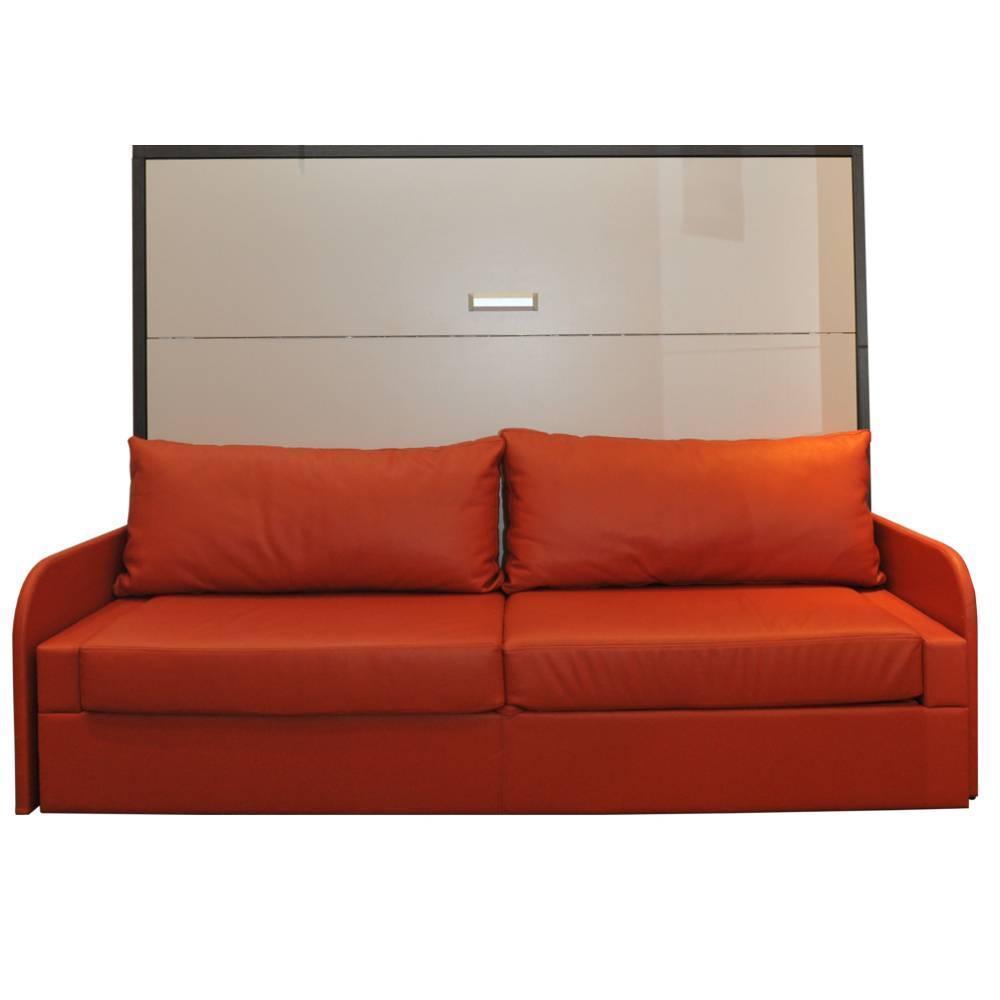 Armoire lit escamotable avec canap int gr au meilleur prix armoire lit transversale saint - Canape rangement integre ...