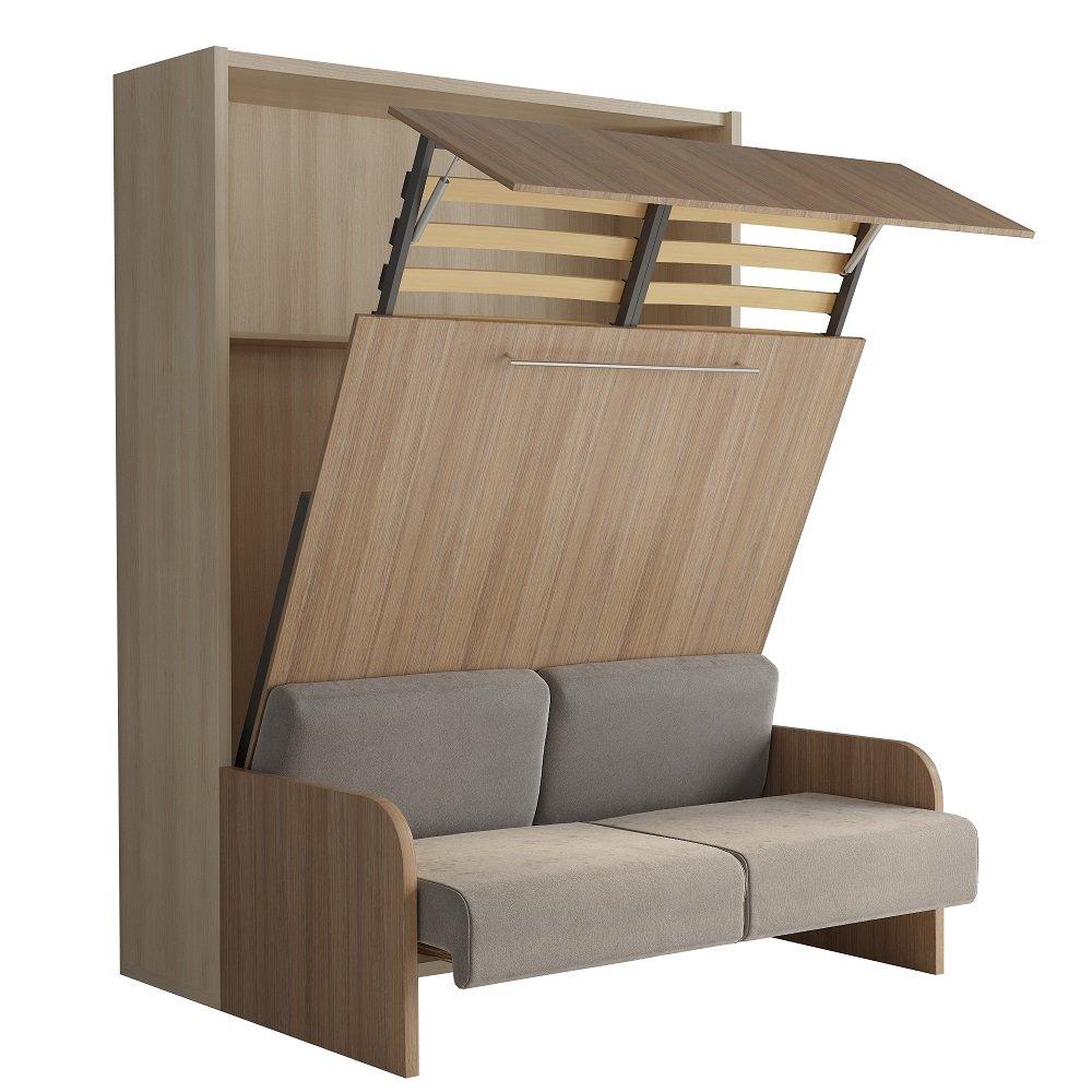 SPACE SOFA armoire lit escamotable 140 x 200 cm canapé intégré