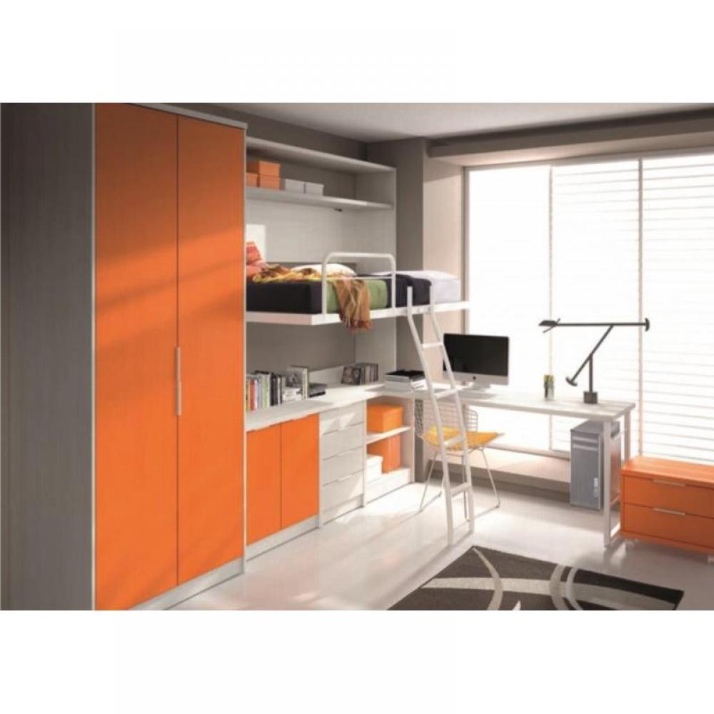 Armoire lit escamotable combin bureau au meilleur prix for Armoire bureau blanc