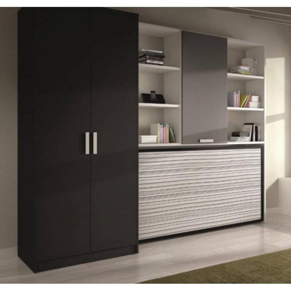 armoire lit simple escamotable 1 personne au meilleur prix armoire lit transversale vulcano. Black Bedroom Furniture Sets. Home Design Ideas