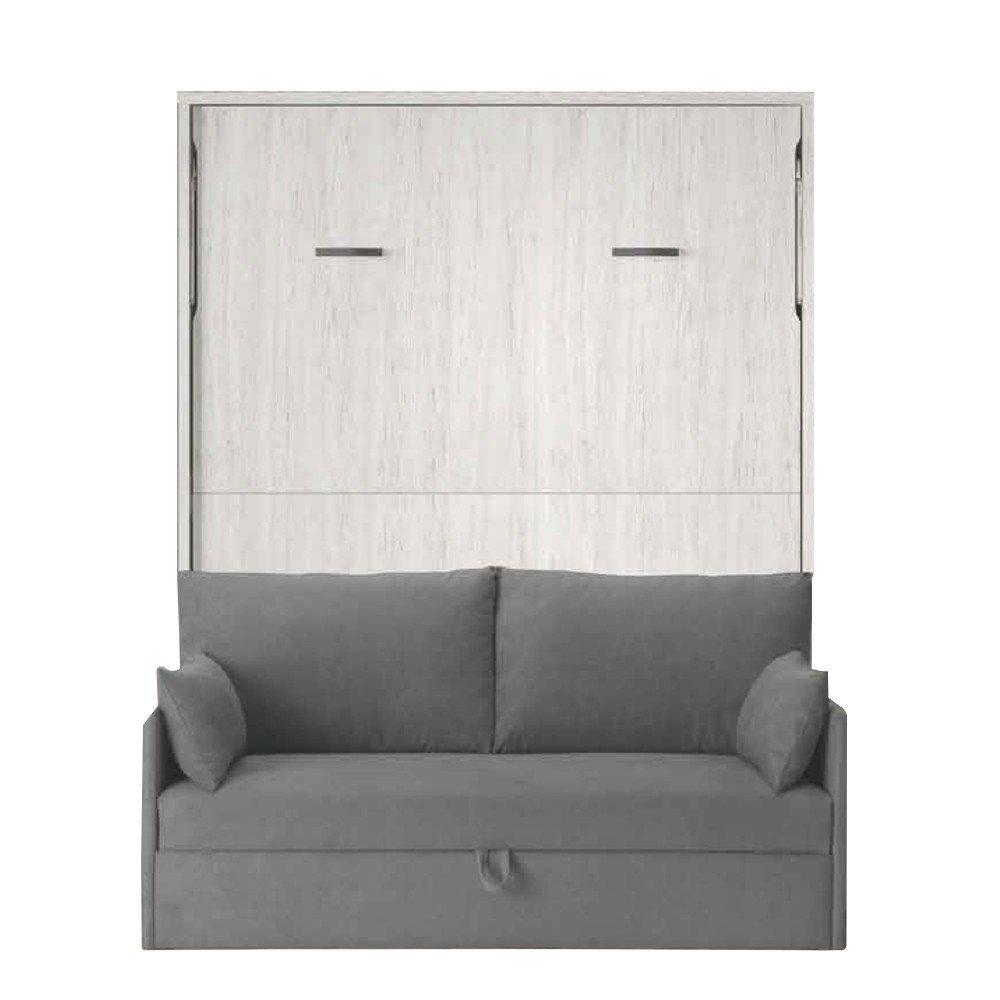 Armoire lit verticale BONITA couchage 140*190cm canapé intégré profondeur 37 cm