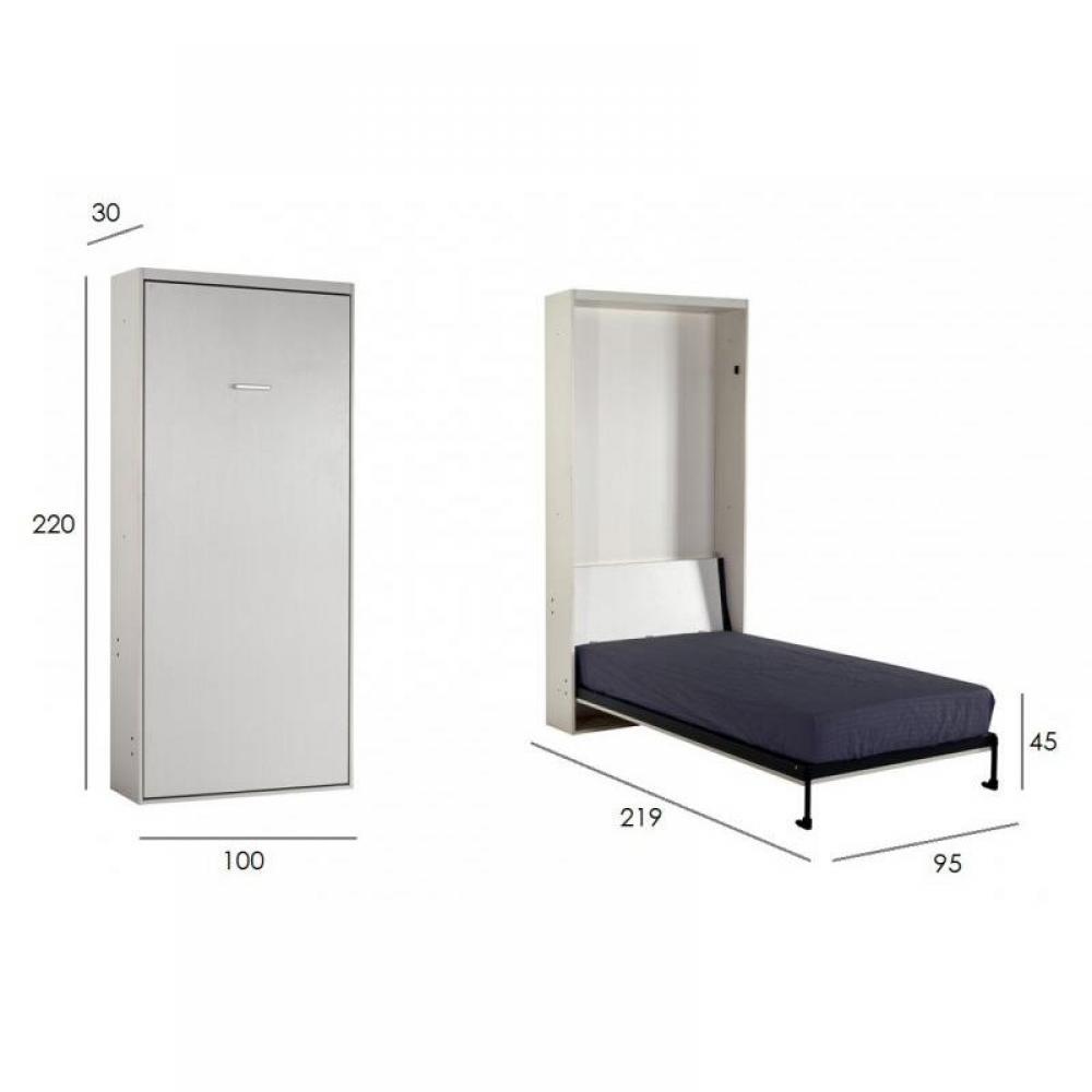 armoire lit escamotables au meilleur prix armoire lit escamotable space couchage 90 190 cm. Black Bedroom Furniture Sets. Home Design Ideas