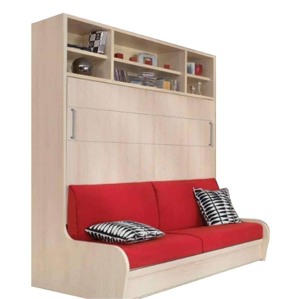 Armoire lit escamotable avec canap int gr au meilleur - Lit escamotable mural ...