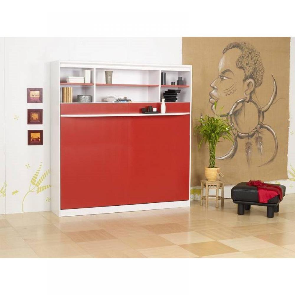 armoire lit escamotables au meilleur prix lit escamotable 140 cm transversale studio 2000. Black Bedroom Furniture Sets. Home Design Ideas