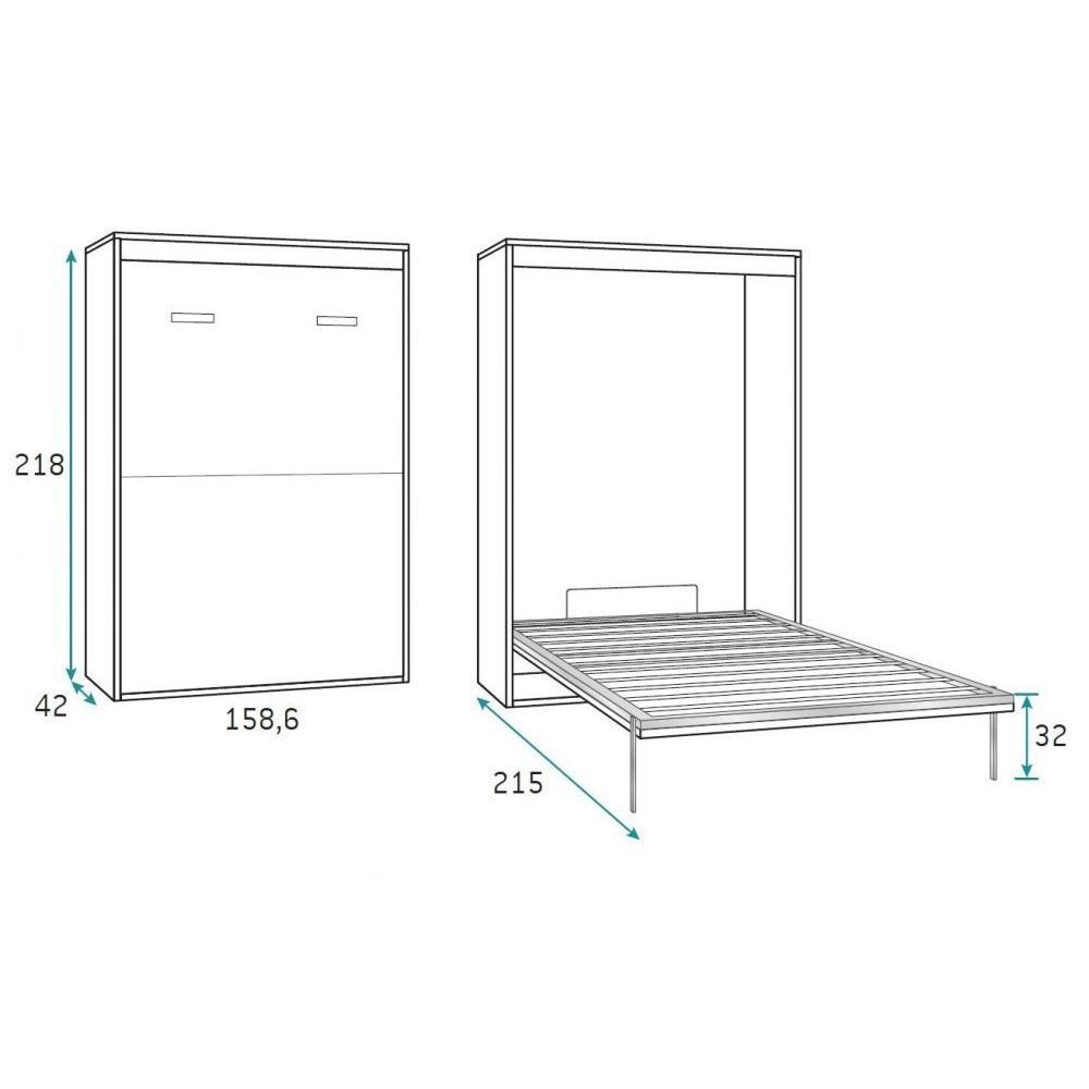 canap s convertibles ouverture rapido armoire lit verticale agata ch ne couchage 140 190cm. Black Bedroom Furniture Sets. Home Design Ideas