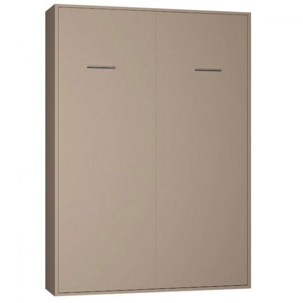 armoire lit escamotable smart v2 taupe mat couchage 140. Black Bedroom Furniture Sets. Home Design Ideas