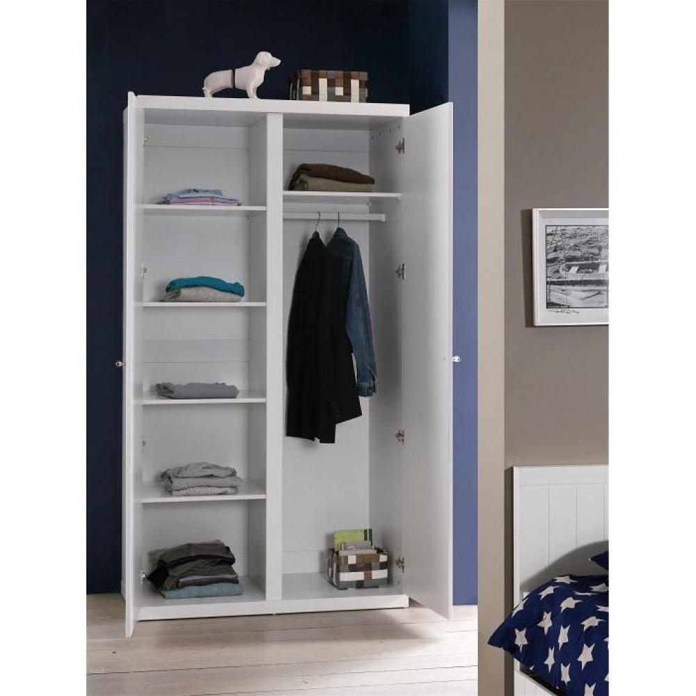 dressings et armoires meubles et rangements armoire penderie hydrus 2 portes blanche inside75. Black Bedroom Furniture Sets. Home Design Ideas