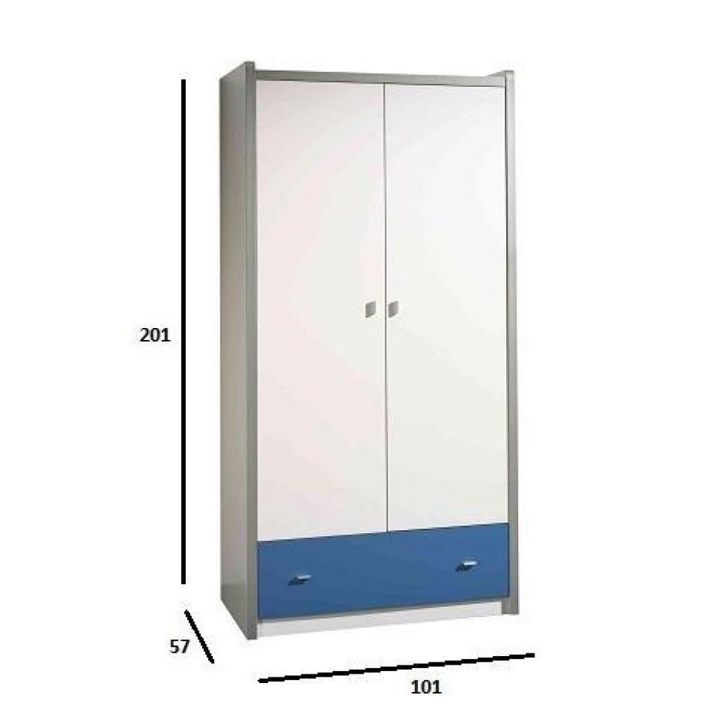 Dressings et armoires chambre literie armoire dressing kyle blanche a - Armoire dressing blanche ...