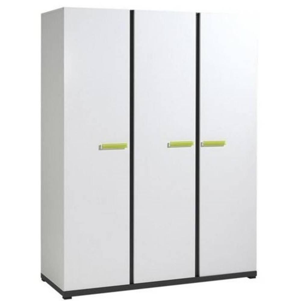 dressings et armoires chambre literie armoire penderie nixon 3 portes blanche inside75. Black Bedroom Furniture Sets. Home Design Ideas