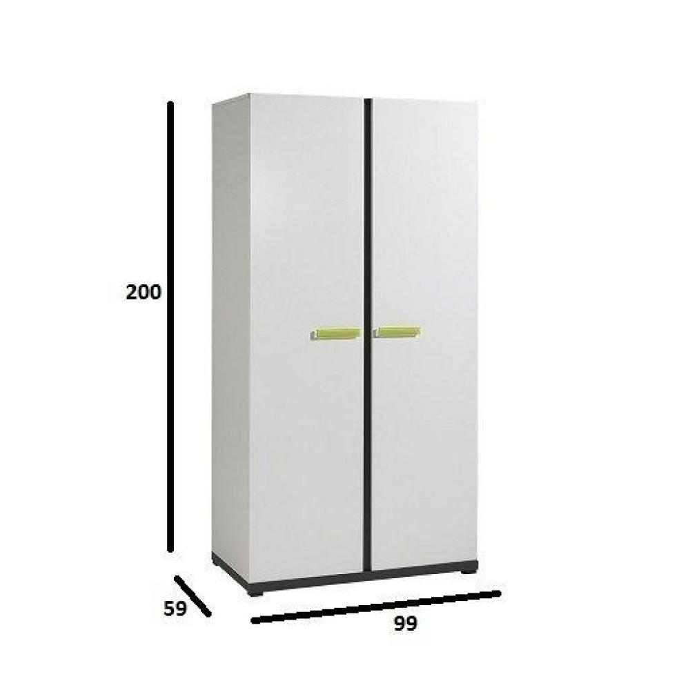 dressings et armoires meubles et rangements armoire penderie volans 2 portes blanche inside75. Black Bedroom Furniture Sets. Home Design Ideas