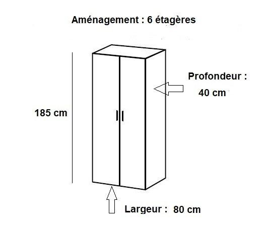 Colonne De Rangement Meubles Et Rangements Armoire De Rangement Etageres Lund Chene Naturel 80 X 40 Cm Profondeur Inside75