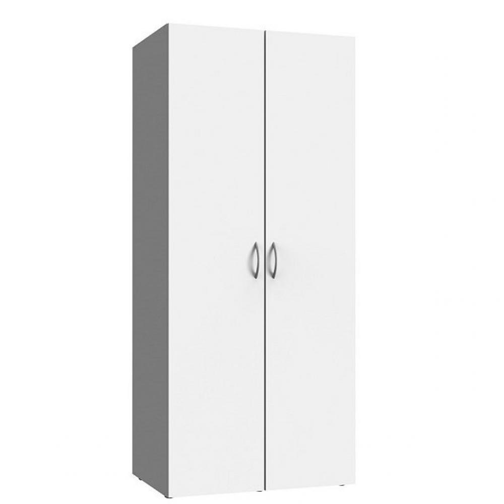 Colonne De Rangement Meubles Et Rangements Armoire De Rangement Lund 2 Portes Blanc Mat Largeur 80 X 54 Cm Profondeur Inside75