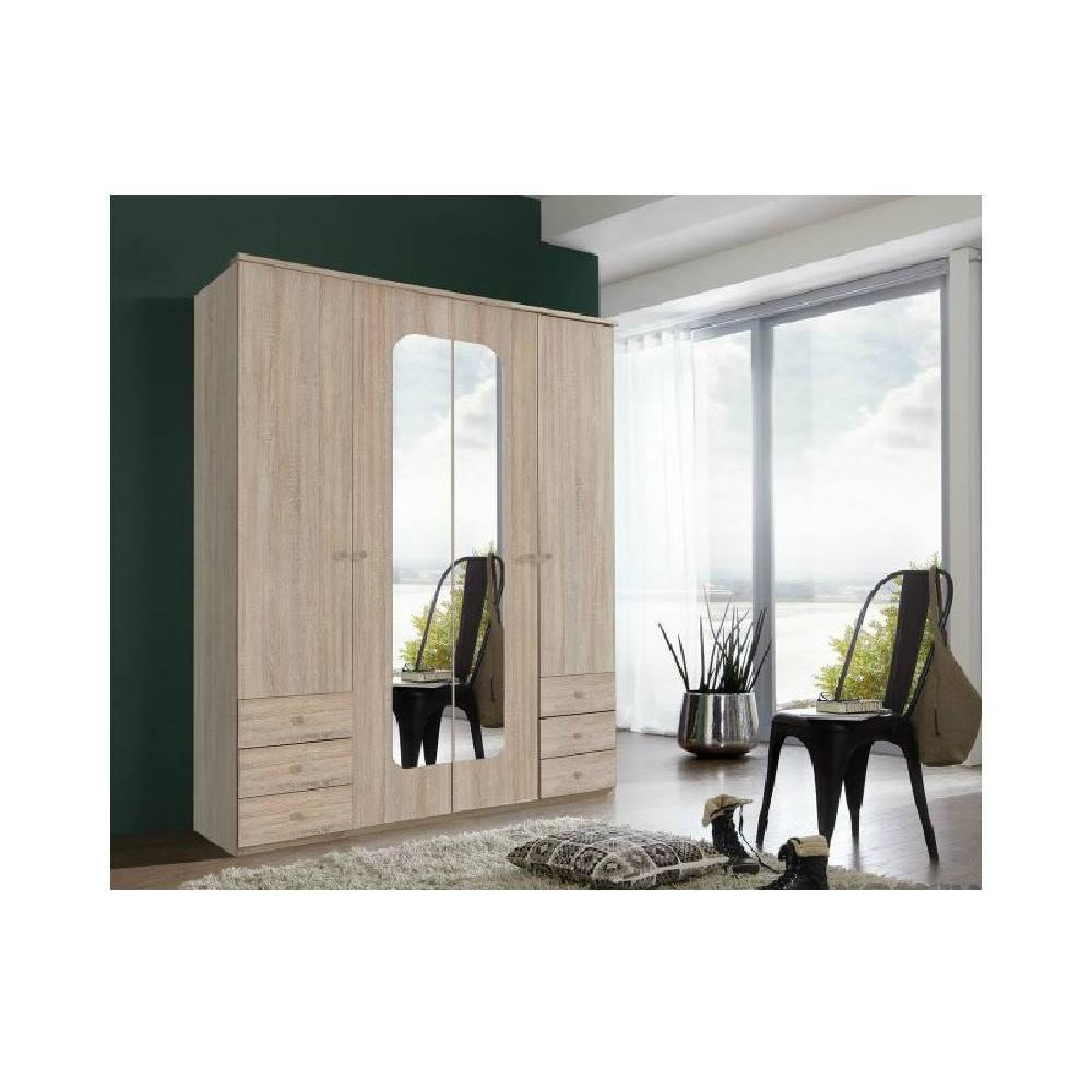 dressings et armoires meubles et rangements armoire viborg 180cm ch ne style scandinave. Black Bedroom Furniture Sets. Home Design Ideas