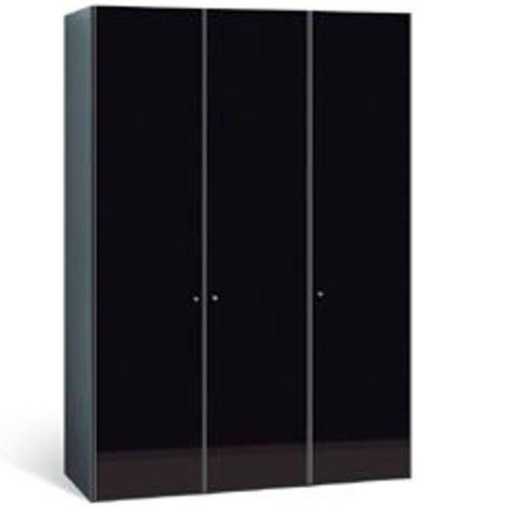 AROLLA armoire dressing 3 portes battantes verre noir