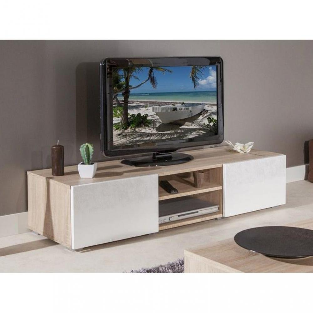 meubles tv meubles et rangements atlantic meuble tv structure ch ne bardolino et portes. Black Bedroom Furniture Sets. Home Design Ideas