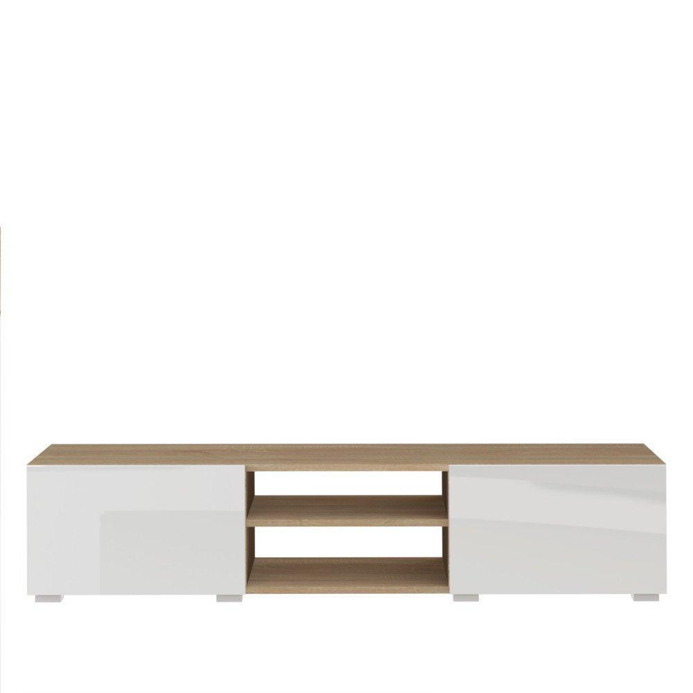 Chaises meubles et rangements atlantic meuble tv for Meuble tv chene et blanc