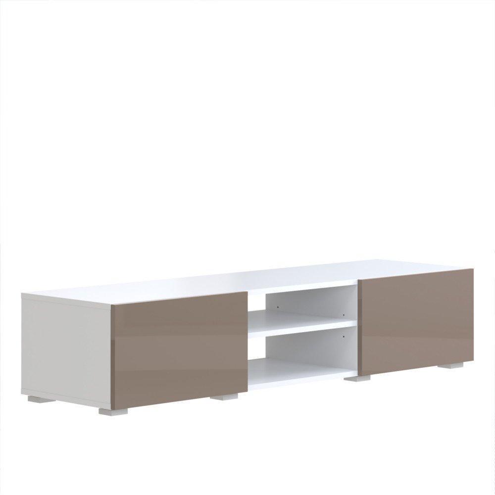 Meubles Tv Meubles Et Rangements Atlantic Meuble Tv Structure  # Meuble Tv Blanc Taupe