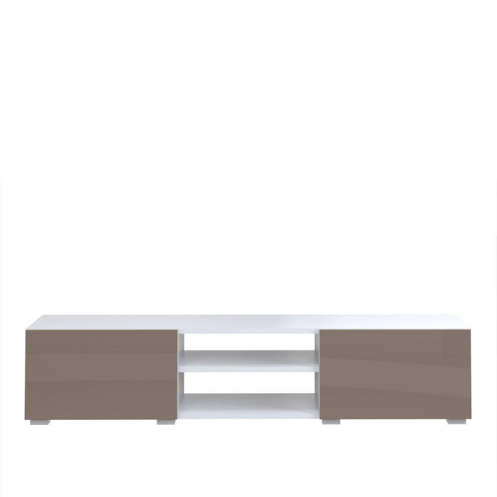 Meubles Tv Meubles Et Rangements Atlantic Meuble Tv Structure  # Meuble Tv Laque Blanc Et Taupe