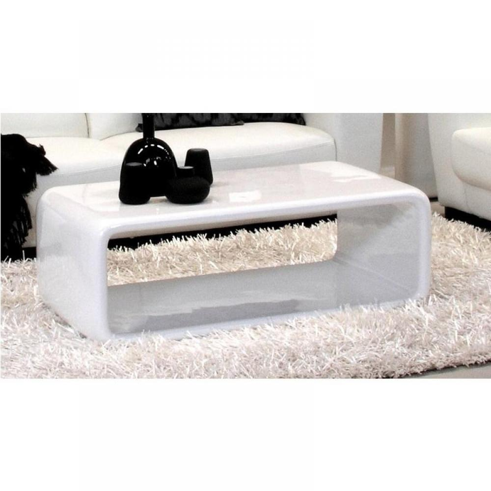 Table basse carr e ronde ou rectangulaire au meilleur prix aura table basse - Table basse blanc brillant ...