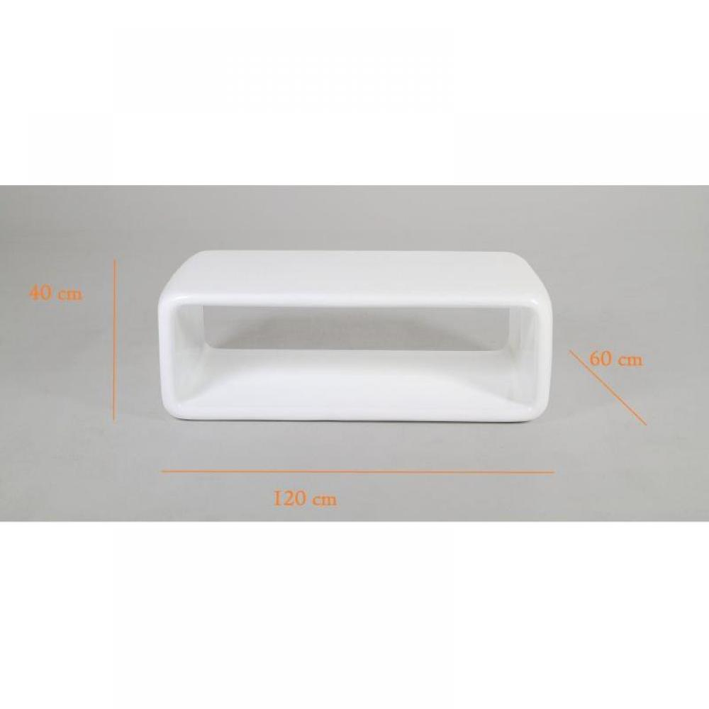 Table basse carr e ronde ou rectangulaire au meilleur - Table basse laque blanc brillant ...