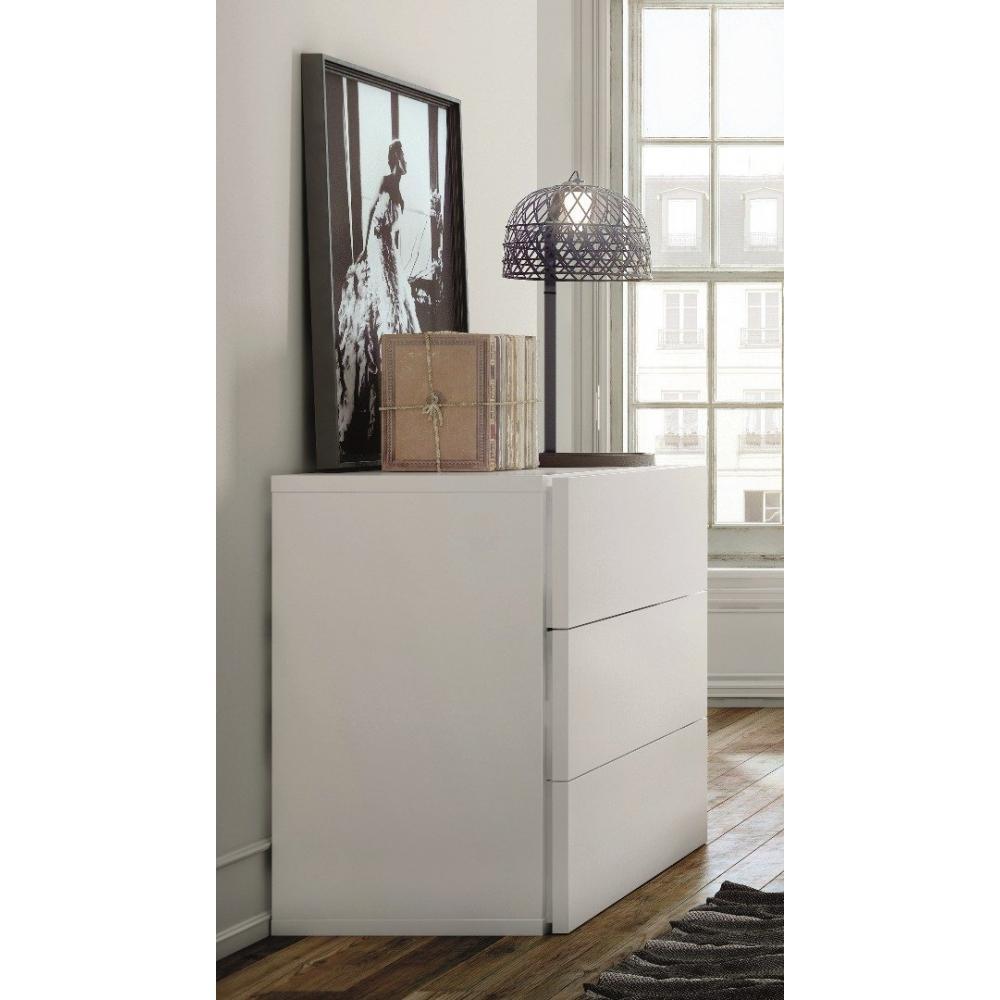 commode blanche aurora. Black Bedroom Furniture Sets. Home Design Ideas